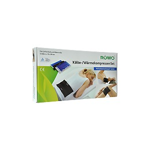 ROWO 2 Cold and Hot Compresses (15x28cm )with velcro bandage